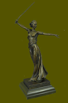 Athena Greek Goddess Grecian Art Deco Statue Figurine Bronze Sculpture Statue