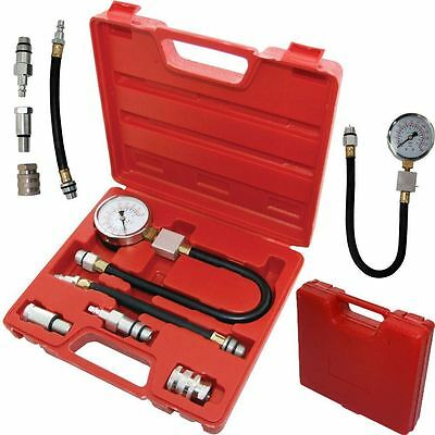 Automotive Petrol Engine Compression Tester Kit Valve Timing Gauge Pro Cylinder