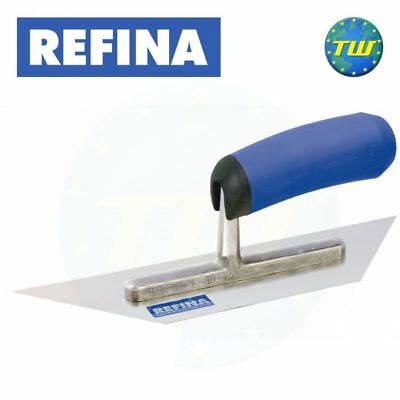 REFINA 8in Plasterers Pointed Both Ends Midget Trowel with Stainless Steel Blade