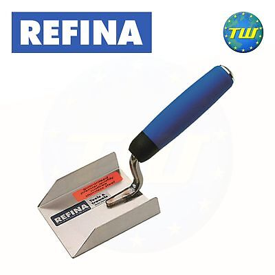 Refina 2/'/' Stainless Steel Plasterers Margin Trowel with Soft Grip Handle 225505
