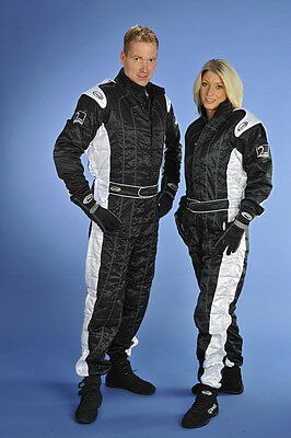 Speed Rennsport Overall Level 2 - Schwarz/weiß - CIK FIA Approved Racing Suit