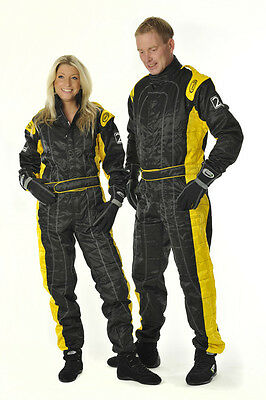Speed Rennsport Overall Level 2 - Schwarz/gelb - CIK FIA Approved Racing Suit