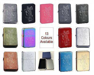 Golf 27 Personalised Engraved Star Lighter In Gift Tin