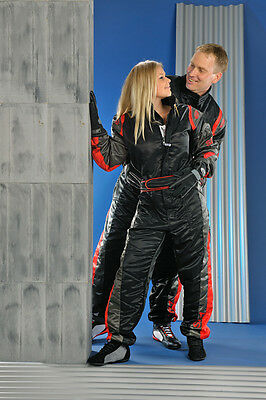 Speed Rennsport Overall Level 2 SR1 Schwarz/rot - CIK FIA Approved Racing Suit