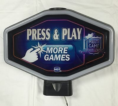 "Igt Slot Machine Topper "" Press & Play More Games """