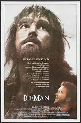 """ICEMAN 27""""x41"""" Original Movie Poster One Sheet 1984 Timothy Hutton Rolled & Rare"""