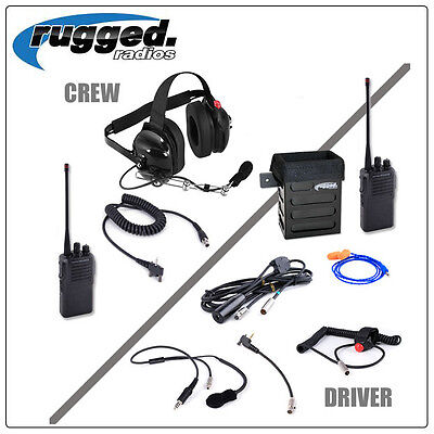 IMSA Complete Radio System Rugged Racing w / VX230-UHF Driver to Spotter sampson
