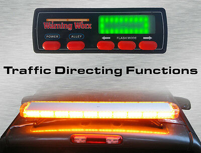 "Warningworx LED Tow Escort Full 47"" Amber Yellow Strobe Warning Hazard Light Bar"