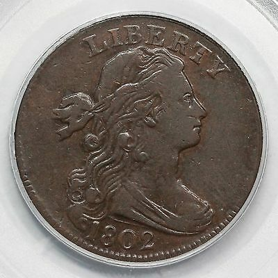 1802 S-242 R-2 PCGS VF 30 Draped Bust Large Cent Coin 1c