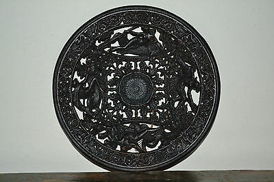 Fine Antique 19th century cast iron/metal Coalbrookdale decorative plate, c 1880