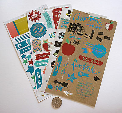 Scrapbooking No 460 - 70 Small To Large Die Cut School Themed Stickers