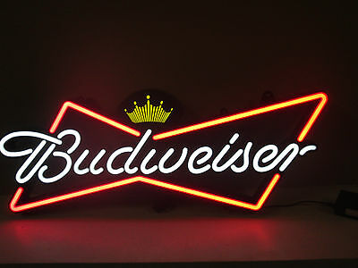 New Budweiser Sign Opti Neon Light Basement Office Bar Man Cave Open Box