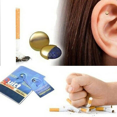 Magnet Auricular Quit Smoking Acupressure Patch No Cigarettes Health Therapy E0