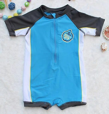 Newborn Infant Baby Boys Swimwear One Piece Beach Sunsuit Swimming Costume 0-24M