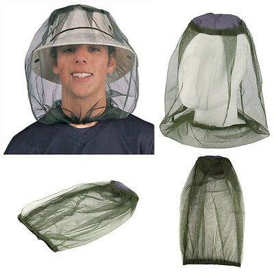 Midge Mosquito Insect Hat Bug Mesh Head Net Face Protector Travel Camping IG