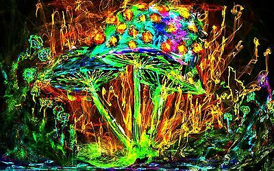 Psychedelic Trippy Art Deco Poster Wall Fabric Canvas 3372
