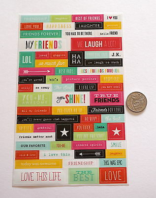 Scrapbooking No 194 - 50 Plus Sayings Stickers - Mixed - Price Reduced