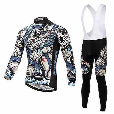 Winter Cycling Clothing Long Sleeve Jersey Cycling Trousers / Bib Tights Suit