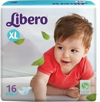 Libero Disposable Baby Diapers - Extra Large(16 Pieces)....