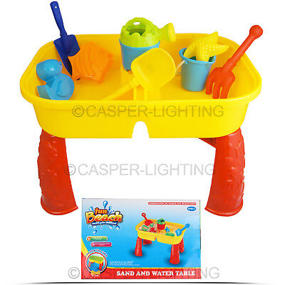 Childrens Kids Sand And Water Table Girls Boys Sandpit Outdoor Garden Play Spade