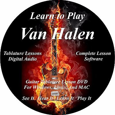 Van Halen Guitar TABS Lesson CD 147 Songs! 54 Backing Tracks, MEGA BONUS