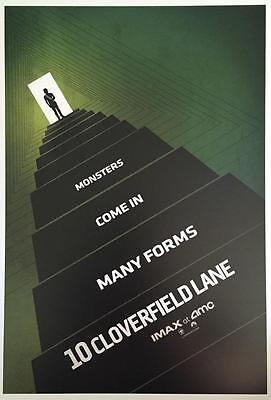 "10 CLOVERFIELD LANE -Original Promo Movie Poster 9""x13"" IMAX 2015 AMC Green 2016"