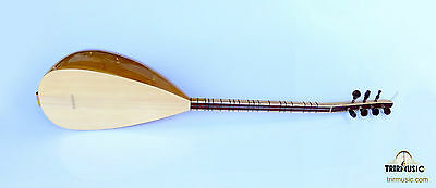 Turkish Professional Short Neck Carved Baglama Saz For Sale Mss-107
