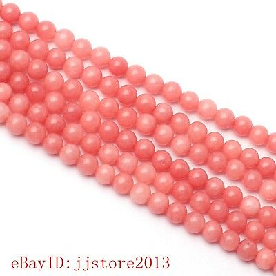 4mm Smooth Natural Red Rhodonite Round Shape DIY Gems Loose Beads Strand 15""
