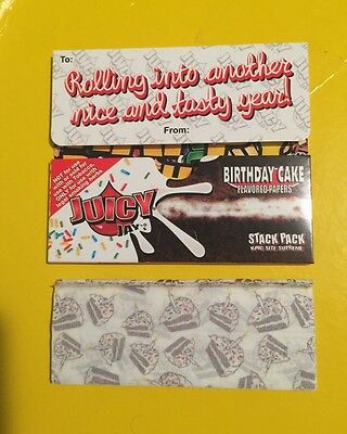 Juicy Jay's Birthday Cake King Size Rolling Paper 110mm 1 Pack 40 Papers