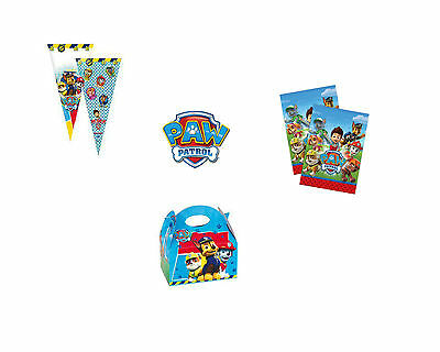 Paw Patrol Birthday Party Loot Favour Gift Bags Boxes Chase Skye