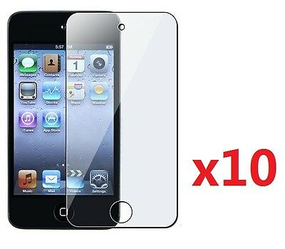 10 x Clear Screen Protector for Apple iPod Touch 4 4G