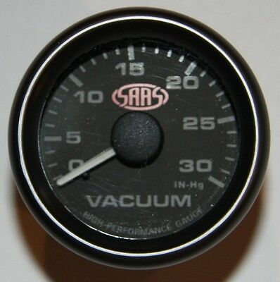 SAAS - 52mm Vacuum Gauge - Black face