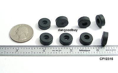 """8 Small Rubber Bumpers – Low Profile Feet  1/2"""" Diameter   3/16"""" Height"""