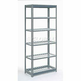 """Heavy Duty Shelving 48""""W x 12""""D x 60""""H With 6 Shelves, Wire Deck"""