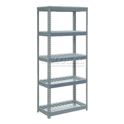 """Extra Heavy Duty Shelving 36""""W x 18""""D x 96""""H With 5 Shelves, Wire Deck"""