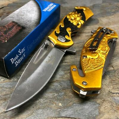 Dark Side Blades Green Scorpion Tactical Hunting Rescue Pocket Knife DS-A048BG