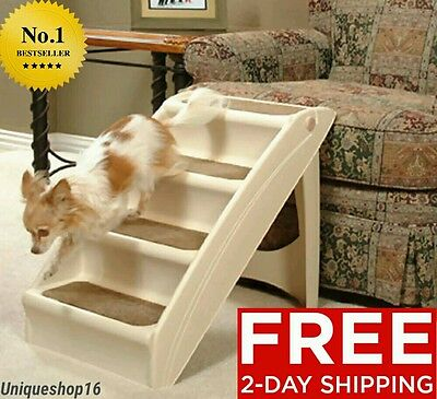New Solvit Plus Pet Stairs Pupstep Small Cat Dog Puppy Ramp Steps Free Shipping!