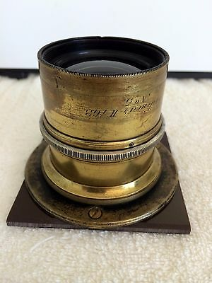 Antique Brass Voigtlander Collinear II No.5 f6.3 Lens.