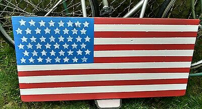 Antique Rustic American Flag Barn Wood Reclaimed Board Real Heavy