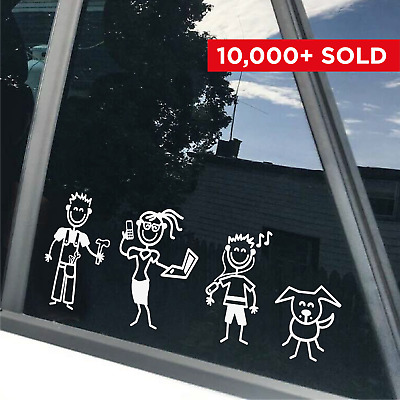 STICK FAMILY - Car Window Bumper Vinyl Decal Sticker, any colour (Type 5)