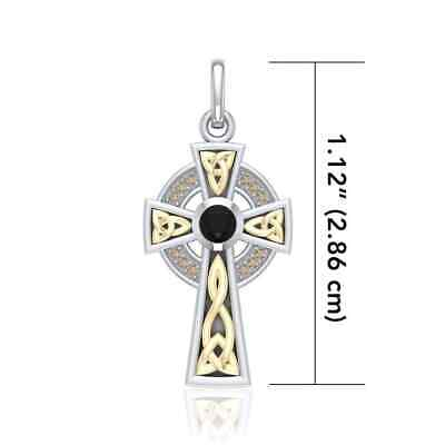 Celtic Cross .925 Sterling Silver Pendant by Peter Stone