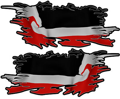 Maori Ripped Flag Left & Right 75Mm By 30Mm Gloss Laminated