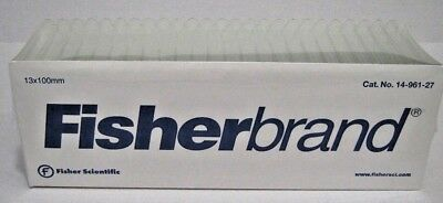 Fisherbrand Disposable Glass Test Tube Tubes 13 x 100mm 250/pack 14-961-27
