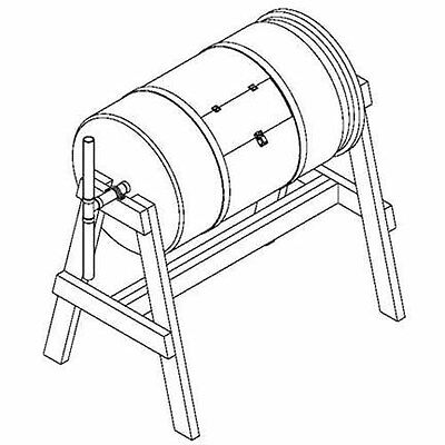 How to Build a Rotating Barrel Compost, Project Plans on Paper