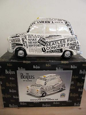 Vandor 1998 The Beatles Limited Edition Newspaper Taxi Cookie Jar