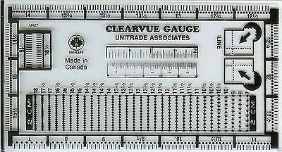 Uni-Safe  Plastic UNITRADE Postage Stamp Perforation Clearvue Gauge