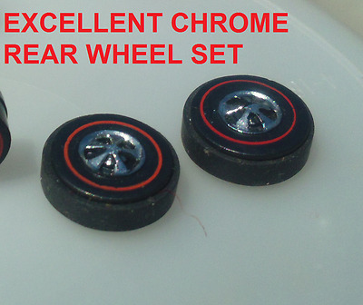 2 Hot Wheels Sizzlers Back Tire Rim And Rubber Good!