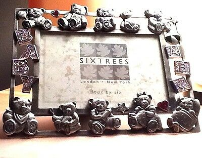 new sixtrees baby photo silver metal picture frame 4x6 photo size