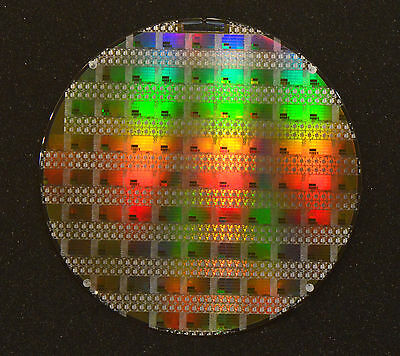 "8"" Silicon Wafer: TI CPU SN105071, Built for Ford Antilock Braking Control"