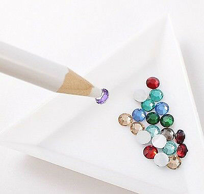 New 2pcs Rhinestone Picker Crystal Wax Pen Tool for Crafting and Nail Art